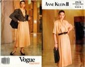 Vintage Uncut Vogue Career Pattern 2524 - ANNE KLEIN II - Misses Jacket, Top & Skirt - 12-16