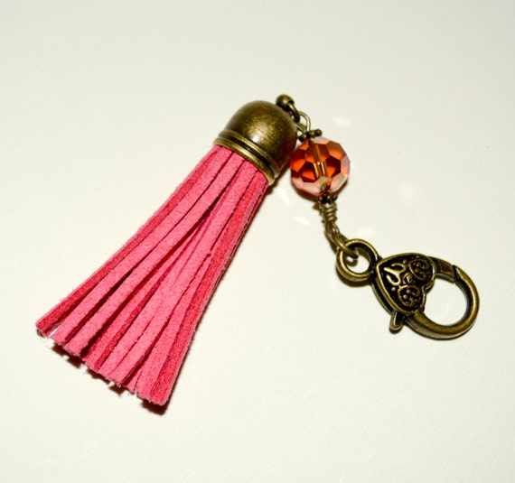Pink Boho Tassel Clip