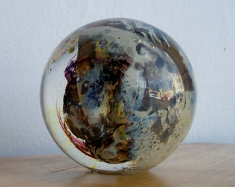 Hand Blown Glass Paperweight  - Solid Landscape Weight by Jonathan Winfisky