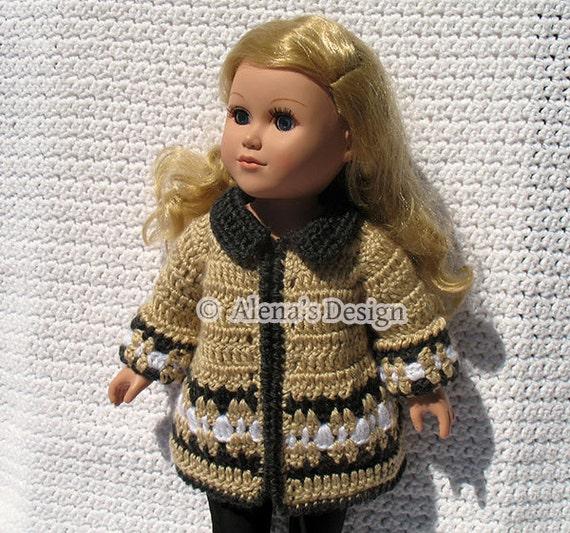 Crochet Pattern Mickey Mouse Doll : Crochet Pattern 128 Crochet Jacket Pattern for 18 by ...
