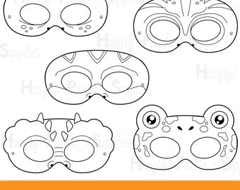 Reptile Printable Coloring Masks Lizard Mask Turtle Alligator Chameleon Frog