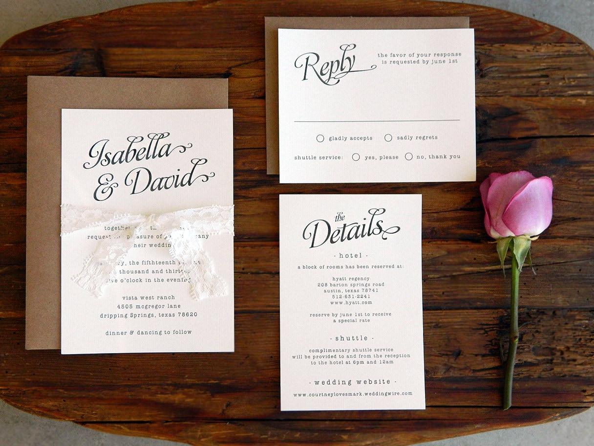 Wedding Invitations Paper: Chandeliers & Pendant Lights