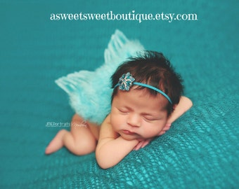 Unique Baby Girl Photo Props Newborn Angel Wings Teal Angel Wings Angel Wings And Headband Feather Wings Angel Photo Prop Newborn Photo Prop