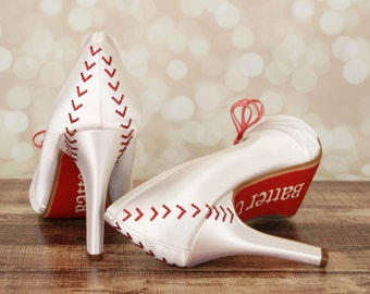 CUSTOM CONSULTATION:  Baseball Wedding, Baseball Wedding Shoes, Custom Wedding Shoes, Wedding Shoes, Wedding Baseball, Wedding Wedges