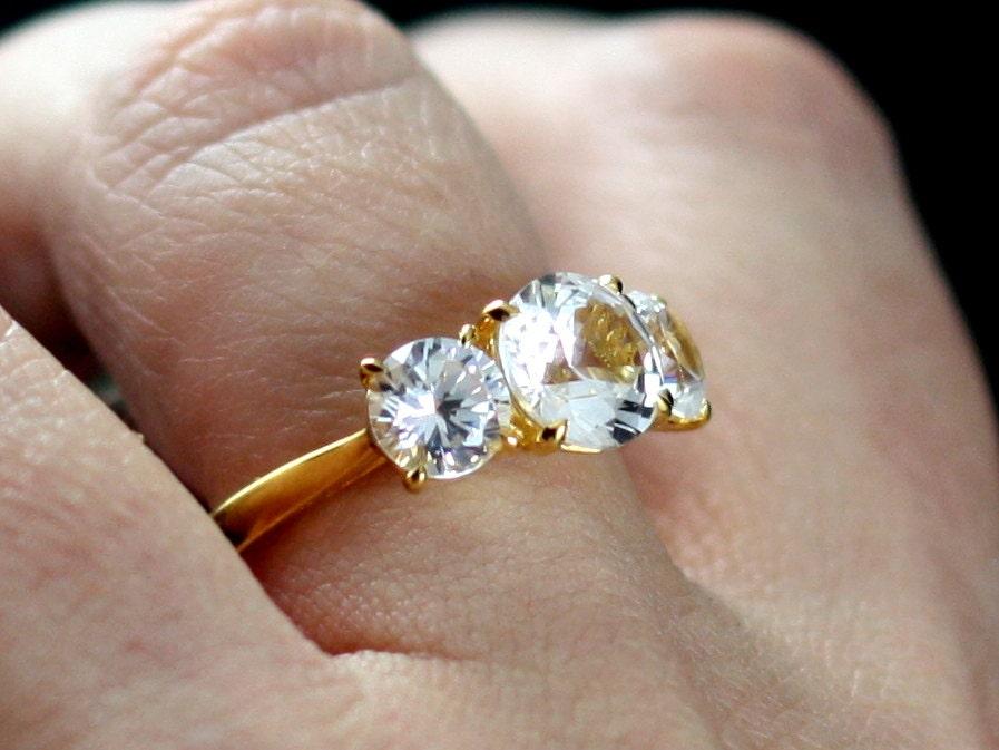 white topaz engagement ring 3 gem jubilee grand 2 45cts