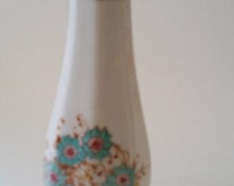 Vintage Bud Vase, Retro Vase, 70s vase, Romantic FTD 1983 bud vase made in Portugal, blue and brown