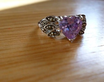 Sterling Silver Shimmer Pink/Purple Ring
