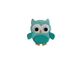 Mini Owl Machine Embroidery Design-INSTANT DOWNLOAD
