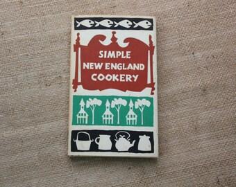 Simple New England Cookery Cookbook 1962, Peter Pauper Press New England Cookbook, #445