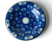 Antique Blue Porcelain Collector Plate, Delft Blue, dated 1934, Figas