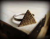 Brass Triangle Ring - Geometric Jewelry
