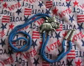 Joseph Warner Unsigned Elephant Bolo Tie Never Worn GOP Grand Old Party Republican Red States Trump Election Western Cowboy political