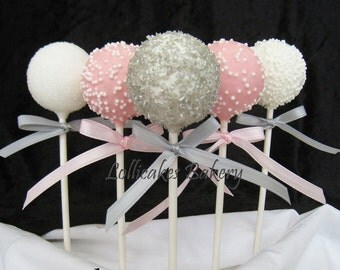 Winter ONEderland Party Favors: First Birthday Cake Pops Made to Order, 1 Dozen
