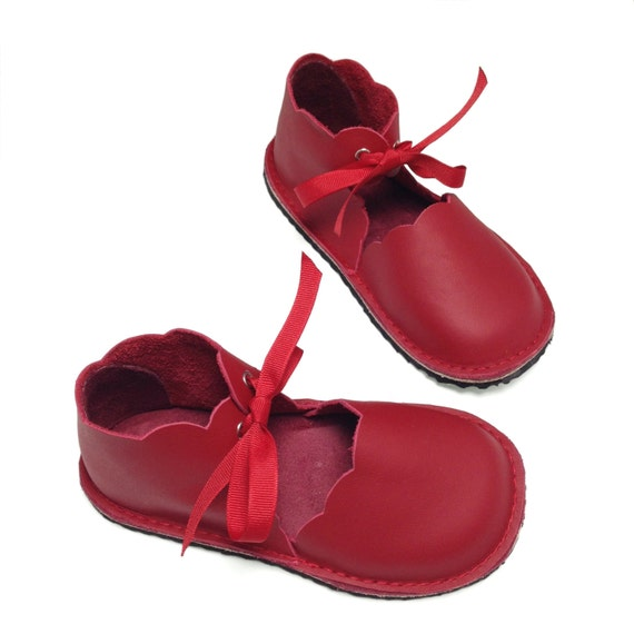 Hand made leather childrens shoes
