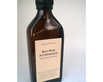 Bay Rum Aftershave- Tighten, Tone and Moisturize - 4 oz,