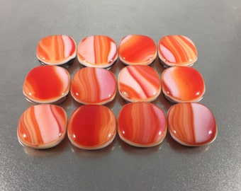 Fused Glass Magnets - Set of 12