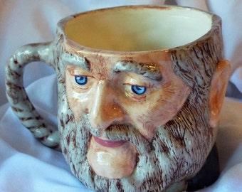 Old Man Mug Figural Toby Style Vintage Shaving Cup