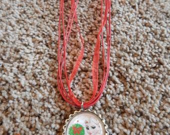 Elsa Christmas Bottle Cap Necklace