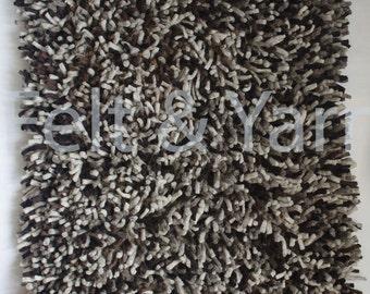 Felt shag rug 90x60 cm rectangular