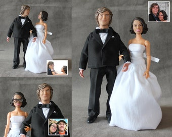 Personalized Action Figures, Wedding Cake Topper Custom Sculpted to Look Like You