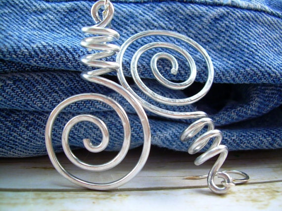 Funky Ear Tops Funky Earrings Wire Wrapped