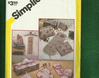 Vintage 1982 Simplicity 5781 Fabric Cosmetic Jewelry Cases & More UNCUT