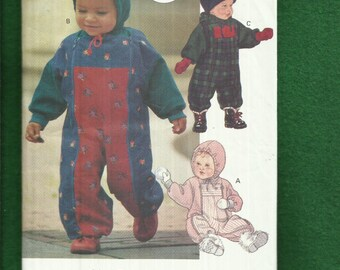 Vogue 8793 Hooded Snowsuits for Babies Size 13 to 29 lbs  UNCUT
