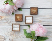His and hers set of ring bearer boxes - rustic vintage weddings