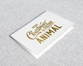 Ya Filthy Animal // Home Alone // Movie Quote // Christmas Card // Typography // Digital Art Print