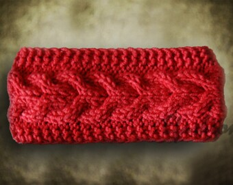 Best Selling Knitted Headband RED, Fashion Accessory, Turband, Cozy, Cable Knit Ear Warmer in Red, Gifts For Her, Womens Headband, urban