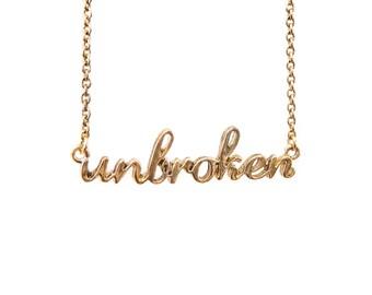 The Unbroken Necklace in Gold - CFJ1501G