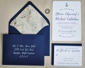 Nautical Wedding Invitation - Deposit to Get Started on Invitation Order