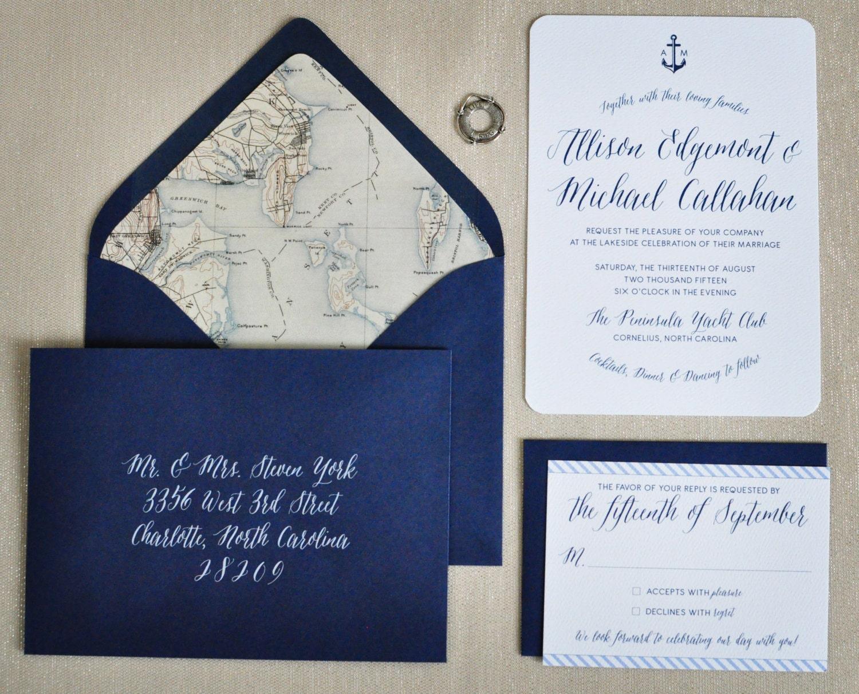 Sailboat Wedding Invitations: Nautical Wedding Invitation Deposit To Get By CoppiaCreativa