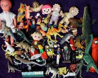 720g(1.6lb) Destash Junk Drawer Lot Toy Dolls Grab Bag