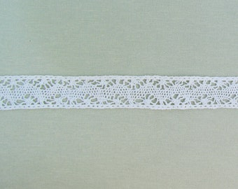 Antique torchon lace insertion, 8 yards of insertion lace, off white cotton lace