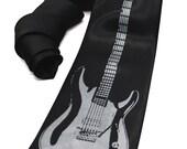 Electric Guitar Tie screen printed music Necktie