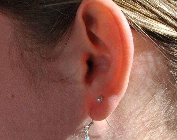 Glass Bead and Sanibel Island Sea Shell Earrings - Sand - Beach - Summer - Water - Sun - Small Shell - Tiny