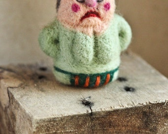 Personification of Discontent needle felted OOAK figurine
