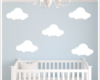 Vinyl Wall Decal Etsy - Nursery wall decals clouds