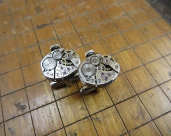 Bulova 5AD Watch Movement Cufflinks. Great for Fathers Day, Anniversary, Groomsmen or Just Because.  #325