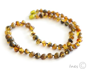 Baltic Amber Adult Necklace Rounded Beads, Adult Amber Bracelet