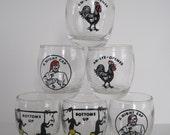 Vintage Shot Glasses - Set of Six