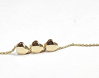One Heart, Two Hearts, Multi Heart Necklace, Gold Heart Necklace, Family, Mother Daughters, Sisters, Best Friends, Bridal  Gift