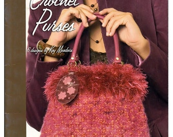 Crochet Purses 6 patterns made  with Lion Brand Yarns Leisure Arts Book 4477