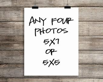 set of four 5x7 fine art photographs, your choice, home decor, wall art, photography
