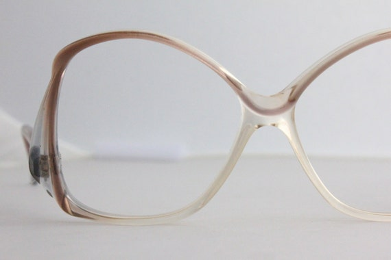 Eyeglass Frame Arm Covers : Vintage 70s Oversized French Drop Arm Eyeglass Frames
