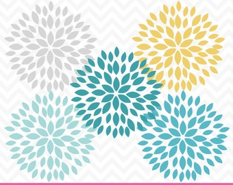 80% OFF Sale Flower Clipart, Dahlia Flowers, Clipart Flowers, Digital Dahlia, Wedding Clipart, Digital Flowers, Scrapbook Flowers, CA218