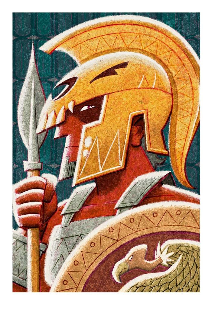 Greek Gods Ares 8.5 x 11 Print