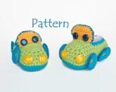 PATTERN Boy Cars booties Crochet baby moccasins McQueen cars Crochet baby shoes Baby boy shoes Infant moccasins Newborn booties Baby booties