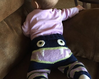 Baby knit monster pants